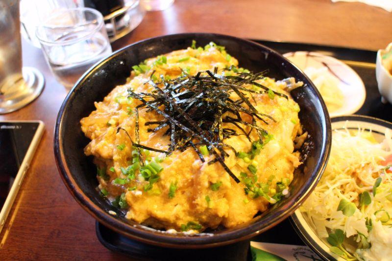 珍しい魚の卵とじ丼