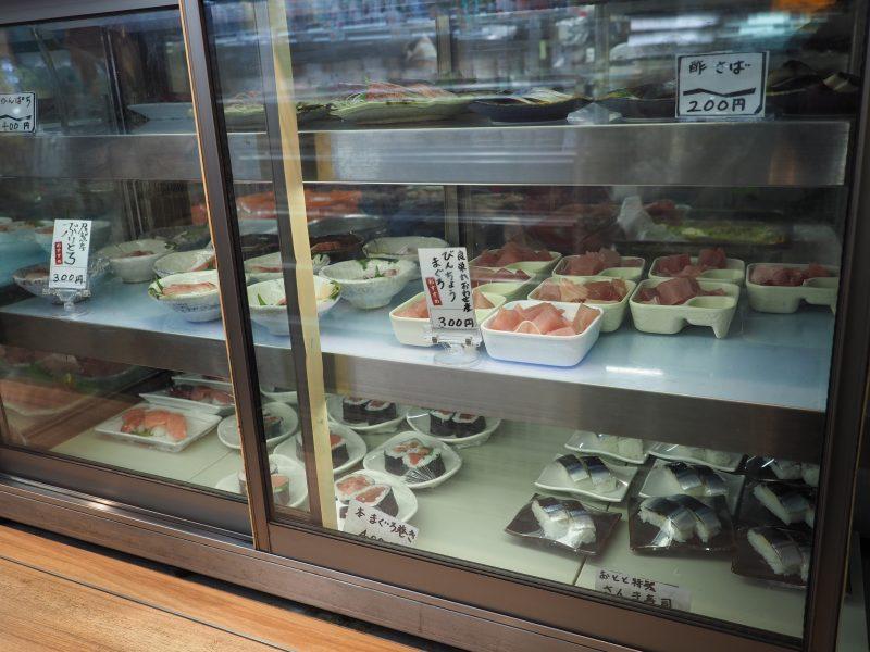 アラカルトで選べる刺身、寿司